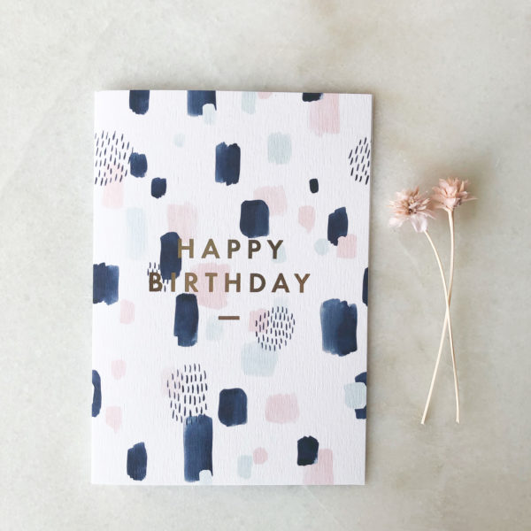 Carte Happy Birthday Abstract