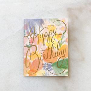 Carte anniversaire - Aquarelle