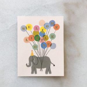 Carte naissance Elephant