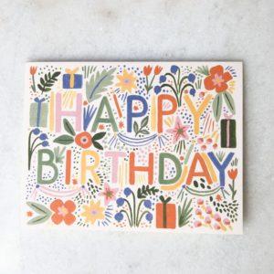 Carte Anniversaire Flowers Party