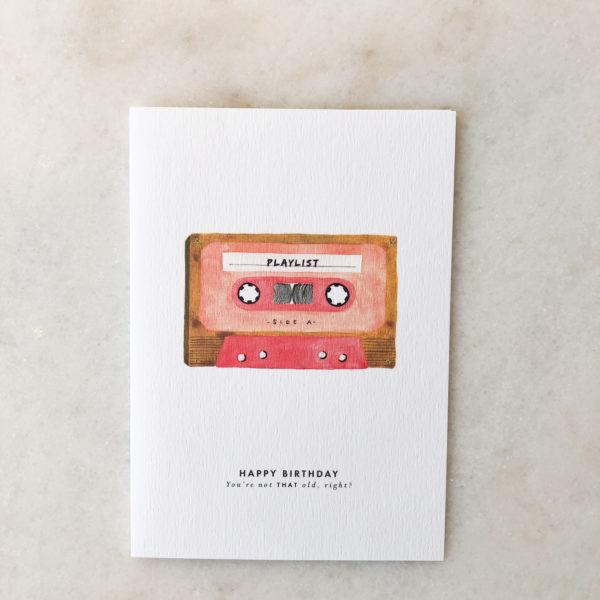 Carte Birthday Tape