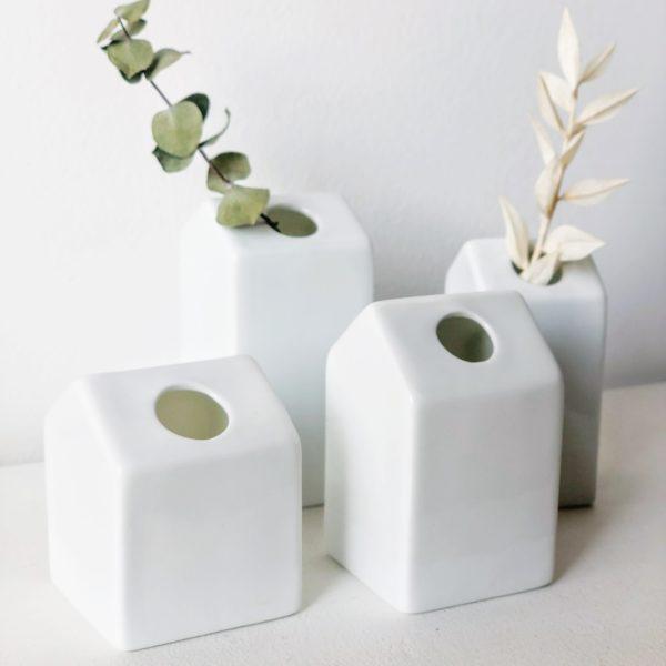 Set de 4 mini vases Maisons