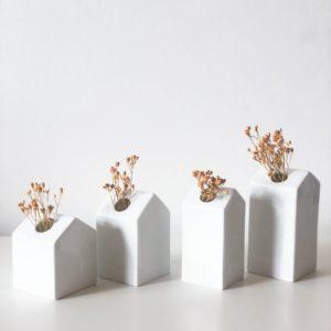 Set de 4 mini vases Maison