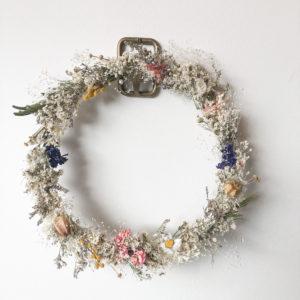 Couronne fleurs séchées Multicolore - Grand modèle