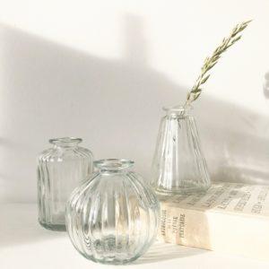 Set de 3 mini vases transparents