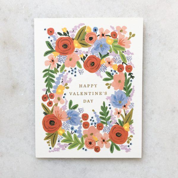 Carte Happy Valentine's day - Couronne