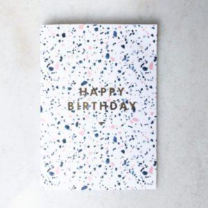 Carte anniversaire - Terrazo