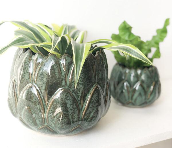 Cache-pots artichaud