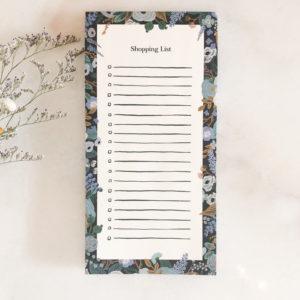 Market List - Fleurs bleues