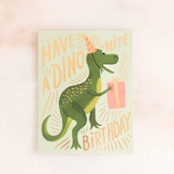 Carte anniversaire - Dino birthday