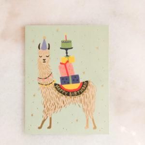 Carte anniversaire - Lama