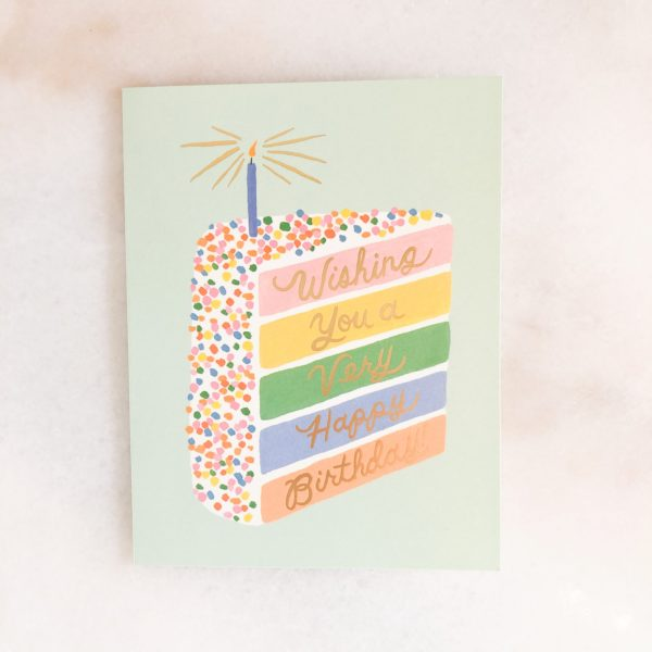 Carte anniversaire - Rainbow cake
