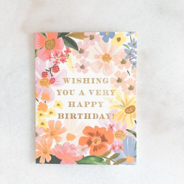 Carte anniversaire - Daisy