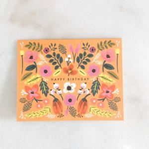Carte anniversaire - Bohême