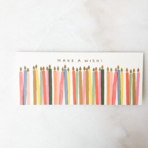 Carte Anniversaire - Make a wish