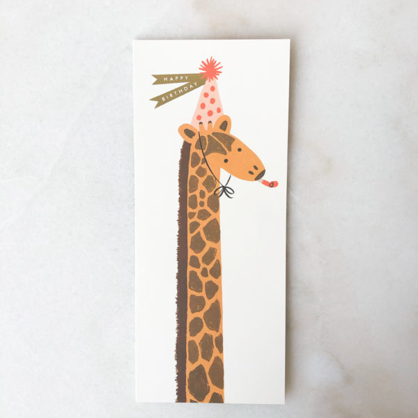 Carte Anniversaire - Girafe