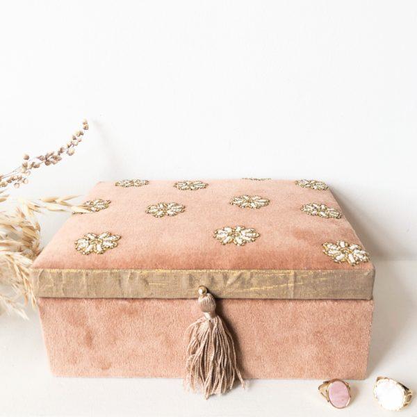 Boîte à bijoux en velours Daisy