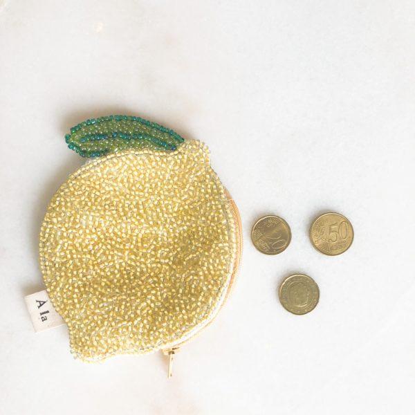 Porte monnaie Citron