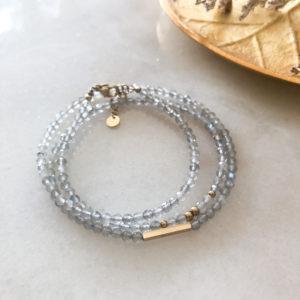 Bracelet Bonheur Gris