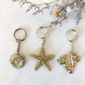 Porte-clés doré