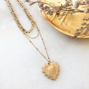 Collier Golden Heart